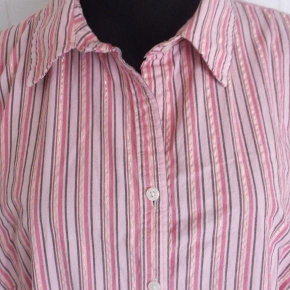 86f292fd Izod Tops | Striped Button Down Shirt | Poshmark